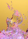 Colorful air bubbles in water Royalty Free Stock Photo
