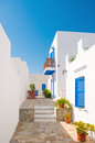 Colorful alleyway in Sifnos, Greece Royalty Free Stock Images