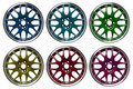 Colorful alloy rims Royalty Free Stock Photo