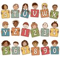 Colorful alphabet letters S - Z and numbers