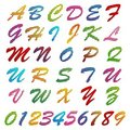 Colorful Alphabet and Number Stock Photo