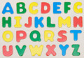 Colorful alphabet set Royalty Free Stock Images