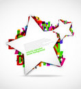 Colorful alphabet with stars Royalty Free Stock Photography
