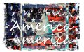 Colorful american flag art a grunge textured and stylized Stock Photo