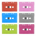 Colorful analogue cassette tape isolated on white background Royalty Free Stock Photo