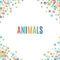 Colorful Animal Footprint Orna...