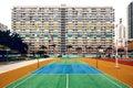 Colorful apartment buildings, Hong Kong Royalty Free Stock Photo