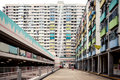 Colorful apartment buildings, Hong Kong Royalty Free Stock Photo