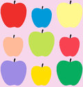 Colorful apples pattern Stock Photo