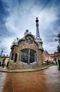 Colorful architecture antonio gaudi parc guell most important park barcelona spain Stock Images