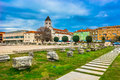 Colorful architecture in Croatia, Zadar. Royalty Free Stock Photo