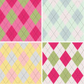 Colorful argyle pattern seamless pattern fabric texture