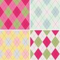 Colorful Argyle Pattern Seamle...