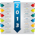 Colorful arrow design calendar Stock Image