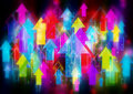 Colorful arrows background moving up Royalty Free Stock Photography