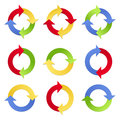 Colorful Arrows in Circles Stock Photos