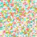Colorful art mosaic wall paint abstract wallpaper background Royalty Free Stock Photo