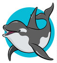 Colorful art orca Royalty Free Stock Photo
