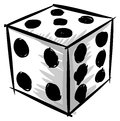 Colorful artistic dice isolated Royalty Free Stock Photo