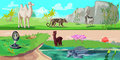 Colorful Asian Animals Horizontal Banners