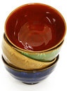 Colorful Asian Ceramic Bowls Royalty Free Stock Photos