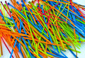 Colorful Assorted Cable Ties Royalty Free Stock Images