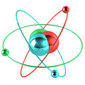 Colorful atom Royalty Free Stock Photography