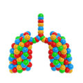 Colorful atom lung Royalty Free Stock Photos