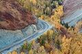 Colorful autumn of China Xinjiang Royalty Free Stock Images