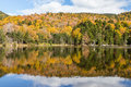 Colorful Autumn landscape and reflection in White mountain Natio Royalty Free Stock Photo