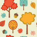 Colorful autumn pattern seamless vector format Stock Photos