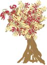 Colorful autumn tree vector illustration Stock Image