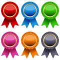 Colorful Award Ribbons Set