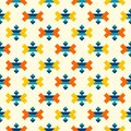 Colorful aztec corner elements pattern