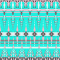 Colorful aztec seamless pattern on blue background. Ethnic abstract geometric texture. Hand drawn navajo fabric. Aztec Pattern Tri