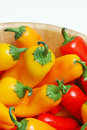 Colorful Baby peppers vegetables Royalty Free Stock Images
