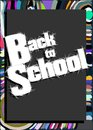 Colorful back to school illustration image representing the concept of come Royalty Free Stock Photography