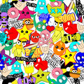 Colorful background bright stickers Royalty Free Stock Photo