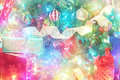 Colorful background of Christmas decorations Royalty Free Stock Photo