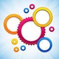 Colorful background with gear circles. Royalty Free Stock Images