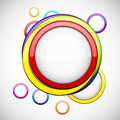 Colorful background with glossy circles. Stock Images