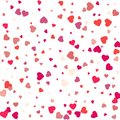 Colorful Background with Heart Confetti. Valentines day greeting Royalty Free Stock Photo