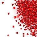 Colorful Background with Heart Confetti.