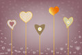 Colorful background with hearts for valentine s day Royalty Free Stock Photo