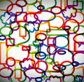 Colorful background made from speech bubbles Royalty Free Stock Images