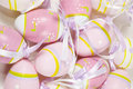Colorful background of many eastern eggs Royalty Free Stock Photo