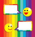 Colorful background speech bubble face icon vector illustration Stock Photos