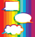 Colorful background speech bubble vector illustration Stock Image