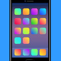 Colorful Backgrounds for Mobile Application Icons Royalty Free Stock Photo
