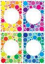 Colorful backgrounds pack of dots with space in center for your text Royalty Free Stock Images